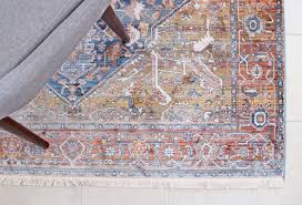 i immediately knew this was the one when i first saw it the rug looks even more stunning in person with diffe shades of rust orange and navy hues