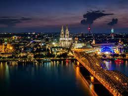 Bridge On The Rhine River Cologne ...