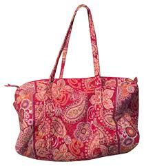 Paisley Bag Designer Vera Bradley Duffle Pink Paisley Weekend Travel Bag 59 Off Retail