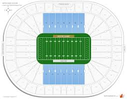 Notre Dame Stadium Detailed Seating Chart Notre Dame Stadium Lower Level Sideline Football Seating