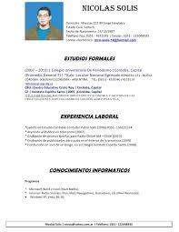 Curriculum Vitae Ejemplos En Espa C3 B1ol Job Application