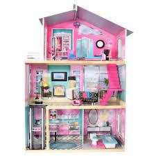 imaginarium modern luxury dollhouse with 11 pieces of furniture com
