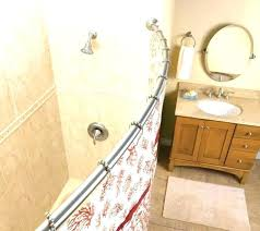 moen double curved shower rod curved tension shower rod chrome curved shower rod large size of