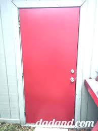 painting metal door paint exterior dad blog finishes a with front uk pain
