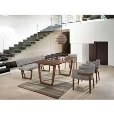 modern furniture dining table. Modrest Jordan Modern Walnut \u0026 Grey Dining Set Furniture Table