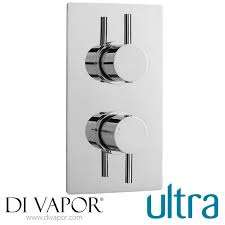 ultra quev52 quest rectangular twin shower with built in diverter