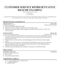 Customer Service Skills Resume Magnificent Customer Service Representative Resume With No Experience 60