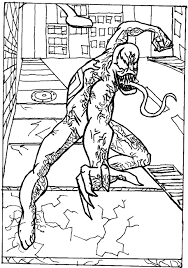 free printable venom coloring pages for kids in coloring pages venom
