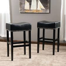 leather bar chairs inch backless leather bar stool set of 2 by knight genuine leather bar leather bar chairs