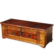 sierra living concepts unique handmade solid wood brass coffee table storage chest