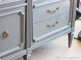 how to spray paint a dresser