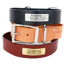 nameplate leather dog collar for big dogs