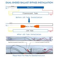 Bypass Ballast For Led Lights T12 Led Diagram Wiring Diagram 500