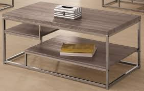 rectangle grey stained mahogany cloud coffee table