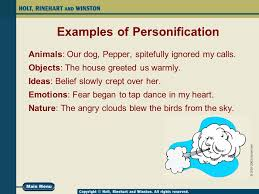 personification a human touch ppt video online 4 examples of personification