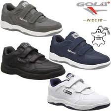 Details About Mens Gola Casual Leather Wide Fit Walking Running Gym Trainers Driving Shoes Siz