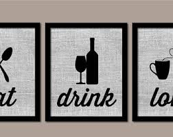 modern kitchen art kitchen wall art burlap eat drink love modern kitchen art farmhouse decor kitchen wall decor kitchen prints on food and drink wall art with kitchen wall decor etsy