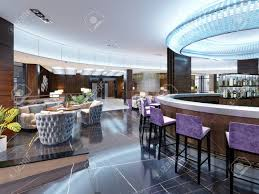Modern Interior Of Cozy Bar Restaurant Contemporary Design In