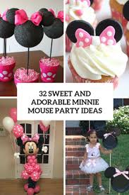 Pink And Black Minnie Mouse Decorations 32 Sweet And Adorable Minnie Mouse Party Ideas Shelterness