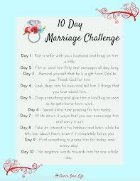 10 Day Marriage Challenge Bible Couple Mariés Activités Couple