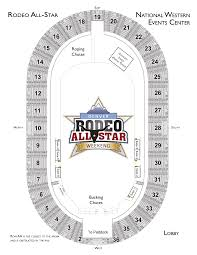 Denver Coliseum Seating Chart Rodeo Seating Map Rodeo All Star