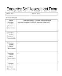Employee Self Assessment Form Sample Example Occupational Health Job ...