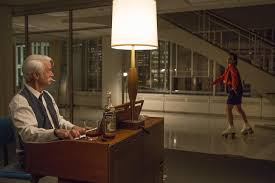roger sterling office. Season 7, Episode 12: Roger Sterling Played Piano While Peggy Roller-skated Around Office A