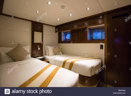 Schlafräume Wohn Oder Schlafzimmer Einer Luxuriösen Yacht Schiff