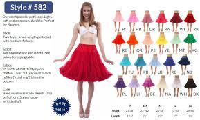 Malco Modes Color Chart Malco Modes Jennifer 582 Luxury Knee Length Chiffon Petticoat