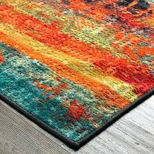 turquoise and orange area rug post