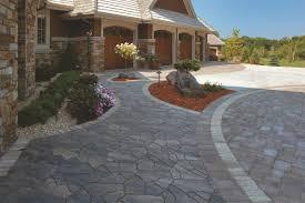 Stone Paver Designs For Walkways Paver Driveway Ideas Interlock Concrete Products