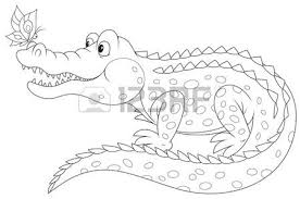 Small Picture Black And White Alligator Coloring Coloring Pages