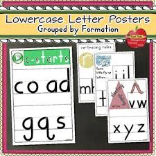 Handwriting Lowercase Letter Formation Posters By Print Path Ot