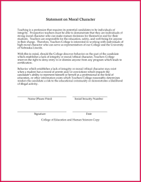 Examples Of Executive Resumes Certificate Of Good Moral Character