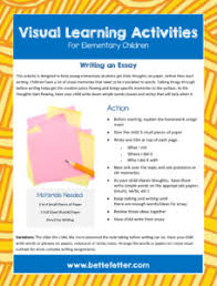 write to learn writing activities for kids bette fetter gathering their thoughts and organizing them into something cohesive is an area that visual learners struggle when writing use this activity sheet to