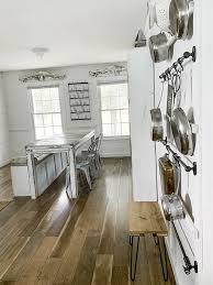 diy farmhouse kitchen pot rack