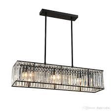 crystal chandelier black bronze hanglamp modern chandelier with 6 lights dining room light fixtures industrial lam crystal chandelier bulbs industrial