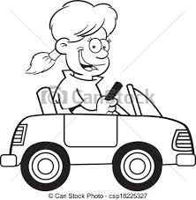 car driving clipart black and white. Interesting Driving Cartoon Girl In A Toy Car  Csp18225327 For Car Driving Clipart Black And White R