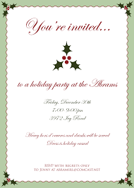 invitation letter for christmas party template christmas brunch abrams christmas invitation
