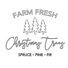 Contact form to reach us by email. Farm Fresh Christmas Trees Svg File Chicfetti