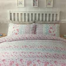 pink pansies double polycotton easy care reversible design duvet set tesco