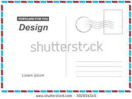 Postcard How To Address Vector Postcard Postal Card Travel Template Stock Change Of Address