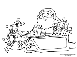 冬季節クリスマスサンタクロースの無料塗り絵ぬりえ画像集
