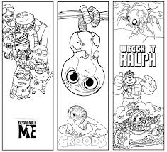 Small Picture Bookmark Template Pages Beauty And The Beast Coloring Page