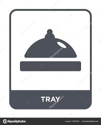 Design Style Tray Tray Icon Trendy Design Style Tray Icon Isolated White