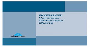 15t Hardness Conversion Chart Buehler Hardness Conversion Charts Pdf Document