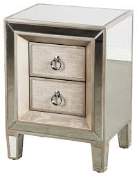 Baldwin Mirrored Nightstand contemporary-nightstands-and-bedside-tables