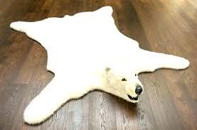 new faux polar bear rug or polar bear skin rug bear rug fake photo 1 of idea faux polar bear rug