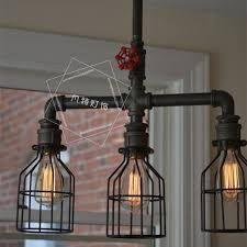 rustic industrial lighting. retro industrial loft iron birdcage edison water pipe pendant light e27 personalized bar lighting rustic steampunk celing lampin lights from r