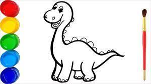 29+ Tranh tô màu khủng long đẹp nhất cho bé tập tô